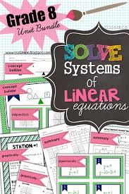 ready to teach how to solve systems of linear equations this unit bundle engages students
