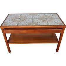 vintage coffee table blond teak and