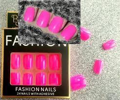 Nehty Celoplošné Neon Růžová Aukro