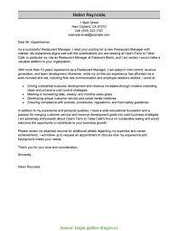 Valuable Restaurant General Manager Resume Cover Letter Cover Letter