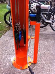 check out the new dero fixit diy bike repair stand outside chandler dining hall and red door cafe
