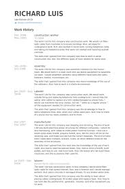 Attractive Ideas Construction Worker Resume 16 Construction Worker Resume  Samples ...