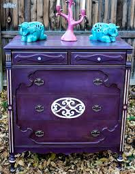 purple furniture. Purple Rain: Check Out These Furniture Makeovers At Betterafter.net .