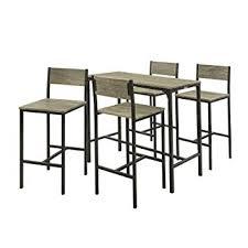 Sobuy Ogt14 Set De 1 Table 4 Chaises Ensemble Table De Bar 4