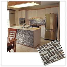 details about 3d glass stone mosiac tile self adhesive wall sticker home kitchen decor diy