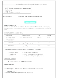 Format In Ms Word Free Download Of T Resume Formats Best Resume ...