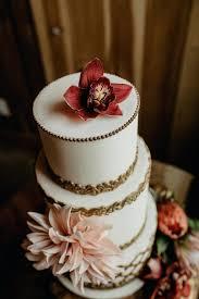 Wedding Cake Ideas For Fall Gilded Fall Wedding Cake