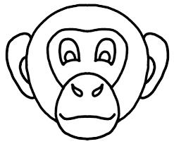 Disegno Di Maschera Di Scimmietta Da Colorare Per Bambini Con