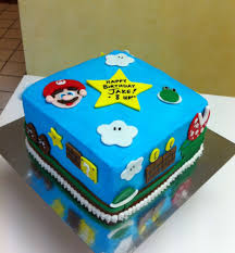 I made this cake for my boyfriend's 20th birthday. Super Mario Birthday Cake Cakecentral Com