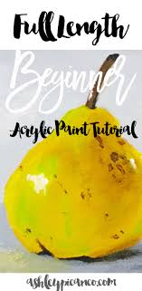 acrylic painting tutorial step by step