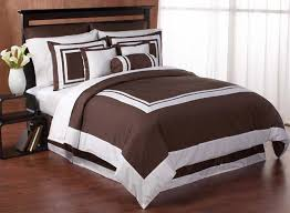 chocolate and white hotel duvet comforter cover 6 pc bedding set only 65 99