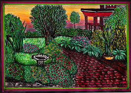 Small Picture Flower Garden Drawing Home Design Ideas