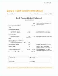 Check Reconciliation Template Bank Reconciliation Template Stunning Bank Reconciliation Statement