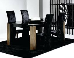 glass black dining table extending black glass dining table and 6 chairs set