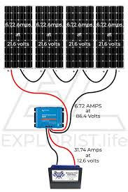 charge controller for a diy camper van 30 Volt Solar Wiring Diagram Solar PV Wiring-Diagram