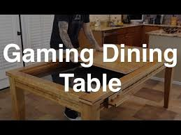 Wooden Game Table Plans The Gaming Dining Table YouTube 12
