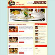 Food Recipe Blog Website Templates Themes Free Premium Free