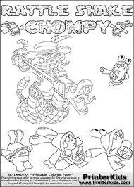 Skylander Chompy Coloring Pages
