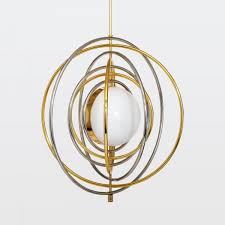 electrum kinetic chandelier brass nickel