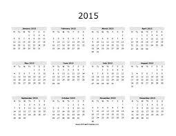 2015 Calendar Free Printable Allfreeprintable Com