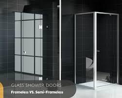 glass shower doors frameless vs semi frameless