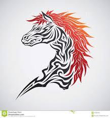 татуировка лошади племенная иллюстрация вектора иллюстрации