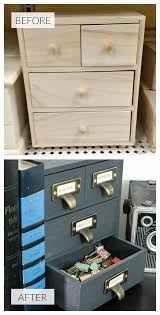 industrial office storage from an inexpensive unfinished wood box via little house of four bookshelf file storage wall