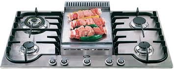 gas stove top with griddle. 5 Burner Gas Cooktop With Griddle Stove Top