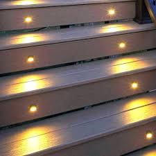 deck stair lighting ideas. Solar Step Lights Concrete Stair Outdoor . Deck Lighting Ideas T