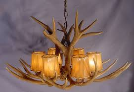 how to make a deer horn chandelier