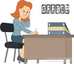 office desk clipart. Delighful Desk Officeworkersittingatdeskclipart215jpg Throughout Office Desk Clipart