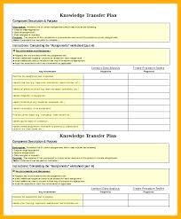 Transition Plan Template Word Transition Plan Template Employee Role Excel It Employee