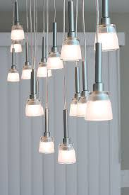 picture of mini pendant chandelier made from ikea lamps