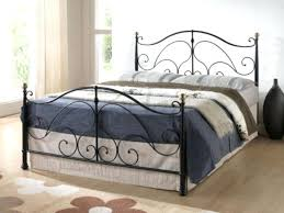 Black Iron Bed King Black Metal Bed Frame Black Wrought Iron King ...