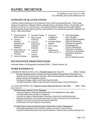 Sample Resume For Information Security Analyst Best Best Financial