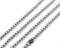 ball chain necklace. ball chain necklace white gold plated 2mm 26 inches