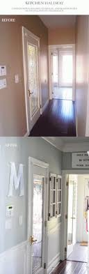 chair rail wainscoting and a new paint color made a huge difference to this hallway