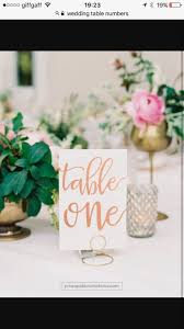 Veronique Rose Gold Foil Table Numbers - Rose Gold Table Number Cards - Two  Sided - Wedding Table Numbers with Rose Gold Foil