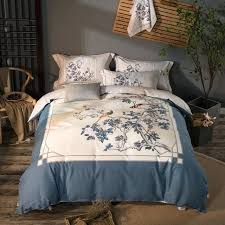 bed blanket sets cotton soft bed linen set peacock print bedding sets king queen size bed