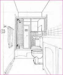 simple bathroom drawing. Wonderful Drawing One Point Perspective Bathroom Drawing In Simple