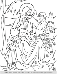 Coloring Pictures Childrens Coloring Pages Of Jesus Loves The Little