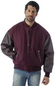 reed men s premium varsity leather wool jacket