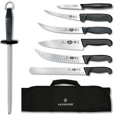 Victorniox Swiss Army Ultimate Competition BBQ 8 Piece Set Black Victorinox Kitchen Knives