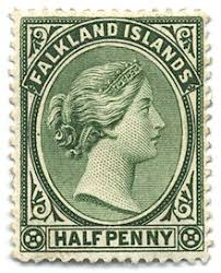 stamp collecting  queen victoria s profile was a staple on 19th century stamps of the british empire here on a half penny of the falkland islands 1891