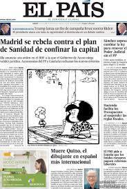 Periodico El País - 1/10/2020