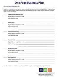 simple one page business plan template one page business plan template cyberuse