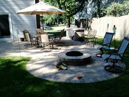 Paver Patio with Fire Pit and Grill Surround