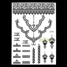 новый хна женский поддельные колье ожерелье татуировки стили Bj216 временные