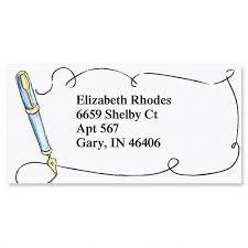 Labels With Border Calligraphy Border Return Address Labels