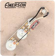 emerson custom prewired kit for fender jazz bass sweetwater emerson custom prewired kit for fender jazz bass image 1